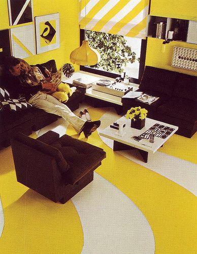 Yellow, Black, White Room, 1970s.