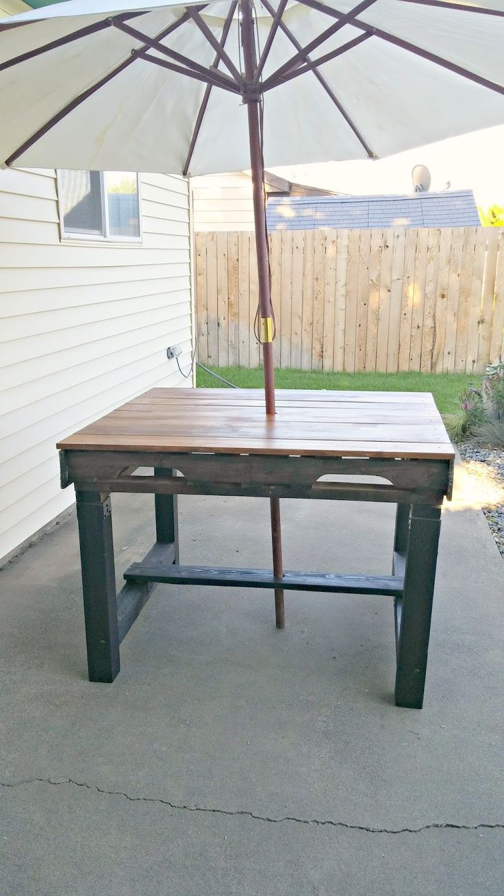 Recycled Pallet Outdoor Dining Table Diy Outdoor Table Outdoor Furniture Plans Recycled Pallets