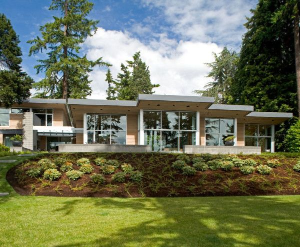 Fresh Home Design with Modern Landscape Gardening by Chesmore Buck  Architecture 600x495 Fresh Home Design with