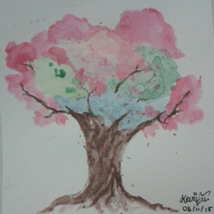 Water color pencils Tree
