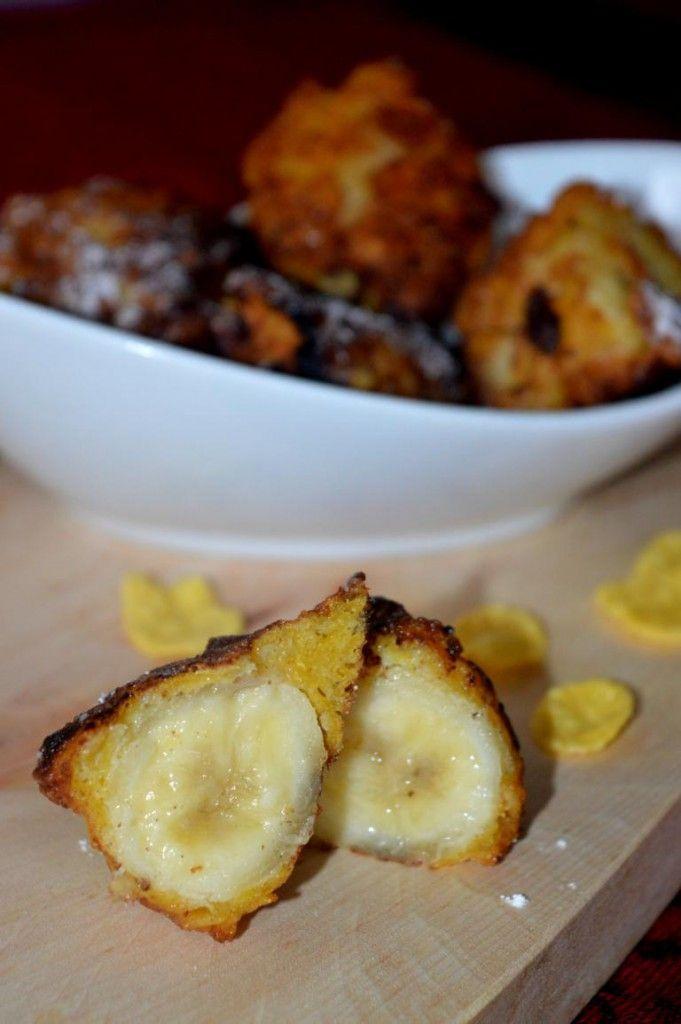 Frittierte Banane. Einfach, schnell und so lecker! #banana #minion #cornflakes