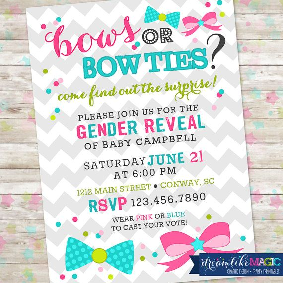 Best 25 Gender reveal party invitations ideas – Reveal Party Invites