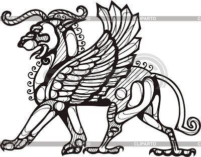 Крылатый лев-вектор
