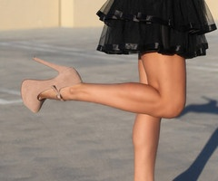 Love the nude pumps.& Black Skirt!Nude Shoes, Fashion, Style, Outfit, Pump, Black Skirts, Nude Heels, Legs, Mary Jane