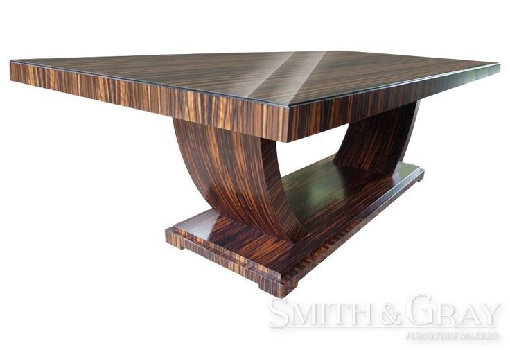 Art deco veneered Macassar Ebony dining table by Smith and Gray Furniture. Custom Made Australian Furniture. See More at: www.smithandgray.com.au