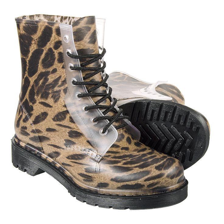 Leopard Print Lace Up Wellie Boots (Natural) // Blue Banana // Festival Shoes, Festival Footwear, Dr Martens, Download Festival, Reading Festival, Leeds Festival