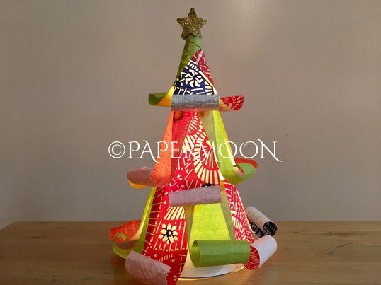 和柄の大人可愛いクリスマスツリーライト 上質な友禅和紙を使った、大人可愛いツリーライトを作りましょう☆