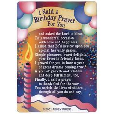 birthday prayer for son and brother - Google Search