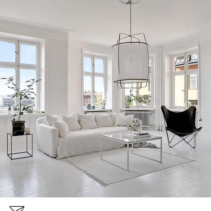 White on white interior inspo image via @fastighetsbyran #danishdesign #interiorinspo #interiordesign