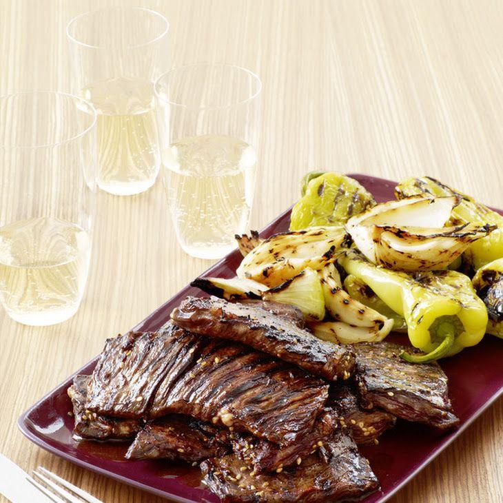 Grilled Korean-Style Skirt Steak | Food styling | Pinterest