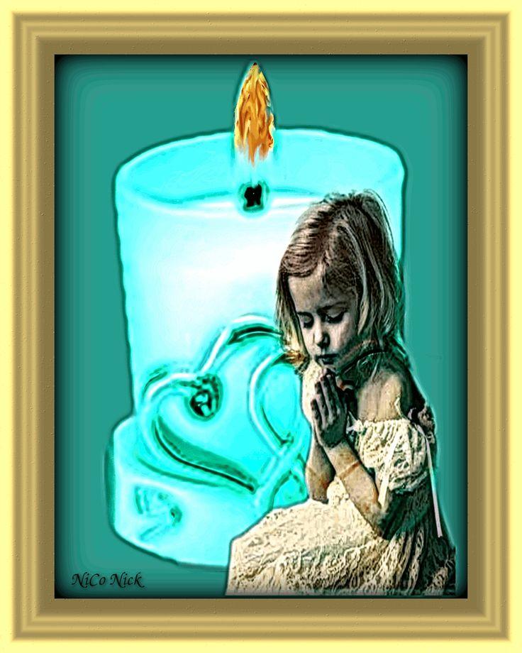 Imádkozó kislány