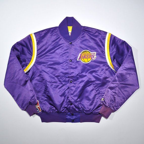 Vintage 90s Lakers Los Angeles Starter Big Logo Official Authentic Bomber Jacket Satin College Vars Pullovers Outfit Streetwear Jackets Bomber Jacket Vintage