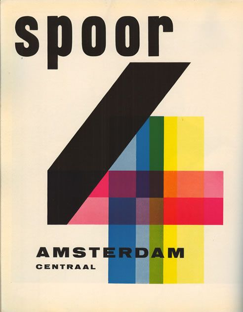 1952 'Platform 4 Amsterdam CS' book design