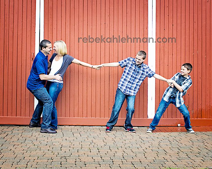 Great idea for the boys in our next family photo session!