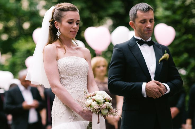 Wedding ceremony in Prague garden
