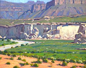 WHITE CLIFFS OF GLEN CANYON by Robert Goldman in the FASO Daily Art Show