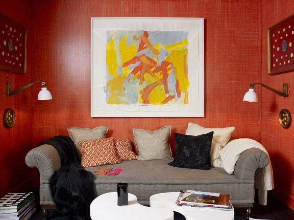 Die besten 25+ Orange wandfarben Ideen auf Pinterest - wohnzimmer braun rot