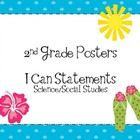 These are custom posters for Science and Social Studies Standards. They are written in I Can statements in a Tropical Theme to match the CCLA Tropi...
