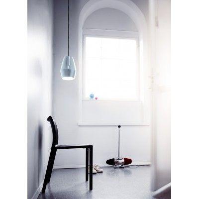 Lampe Suspension Bell Bleu Clair en Porcelaine - Lili's