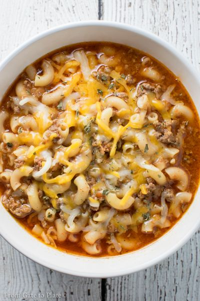Chili Pasta Soup. It's a marriage between chili and mac and cheese! Welcome to Week #2 of my edition of #SoupSaturday. If you're just joining in let me introduce you to what I've started doing! Around my neck of the woods, it starts getting pretty dang nippy outside in November and what better way than …