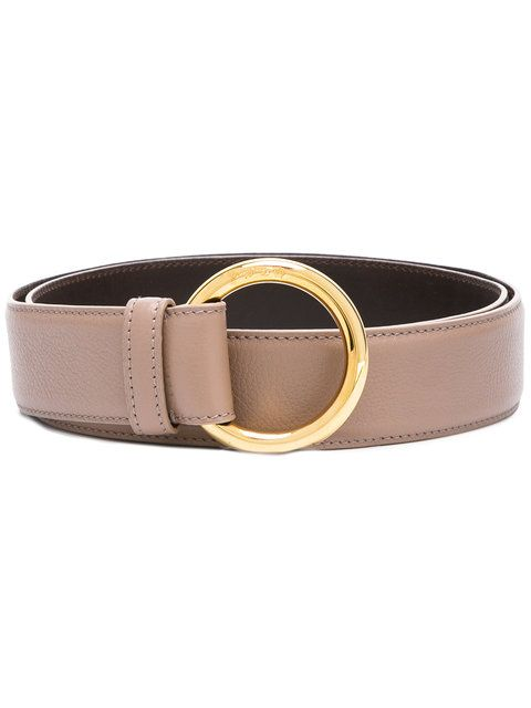 Shop Loro Piana circle buckle belt .