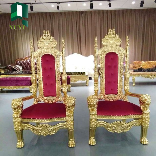 Source 2016 Modern Castle Use High Back Baroque Queen Throne King chair on m.alibaba.com