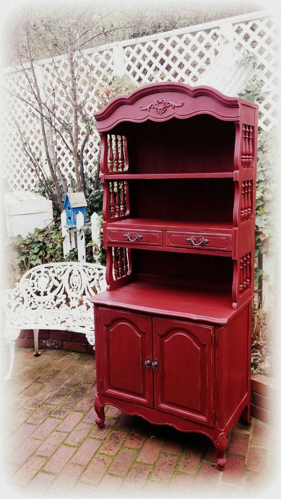 90 Red Dining Room Hutch