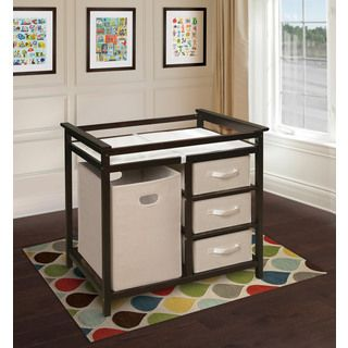 Badger Basket Cherry Diaper Corner Changing Table | Overstock.com Shopping    The Best Deals