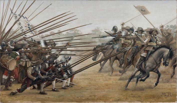Spanish tercio resisting the swedish cavalry, Battle of Nördlingen
