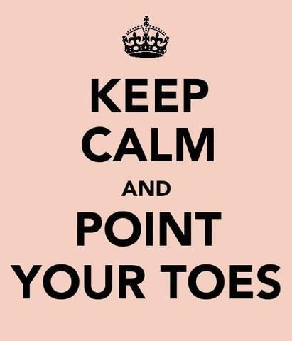 When in doubt, point your toes!
