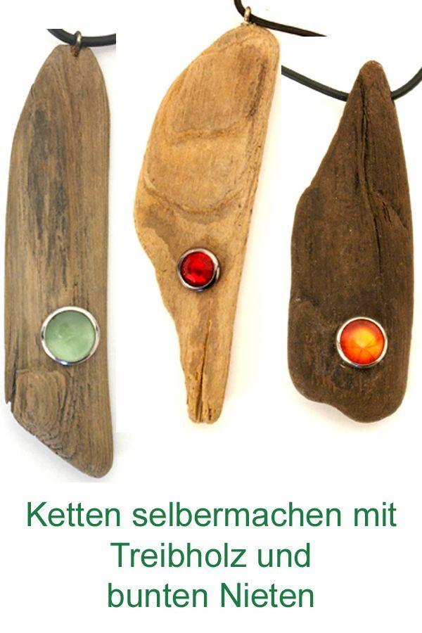 Diy Ideen für Treibholz. Bilden Sie Ketten selbst mit Treibholz. Modeschmuck mit … – Basteln
