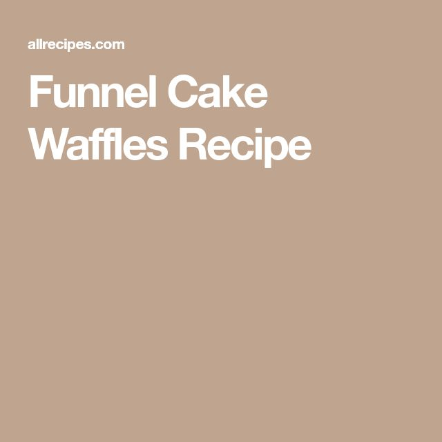 Funnel Cake Waffles Recipe