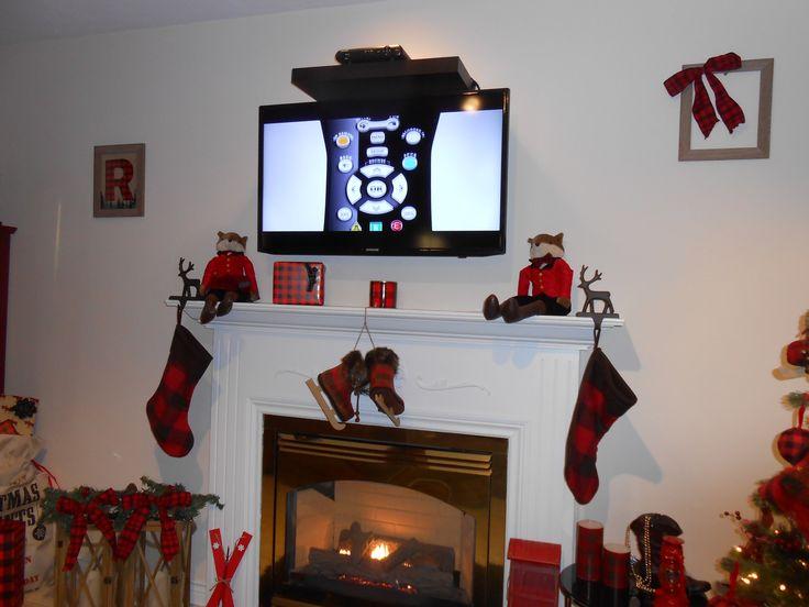 Buffalo Plaid Christmas Mantle