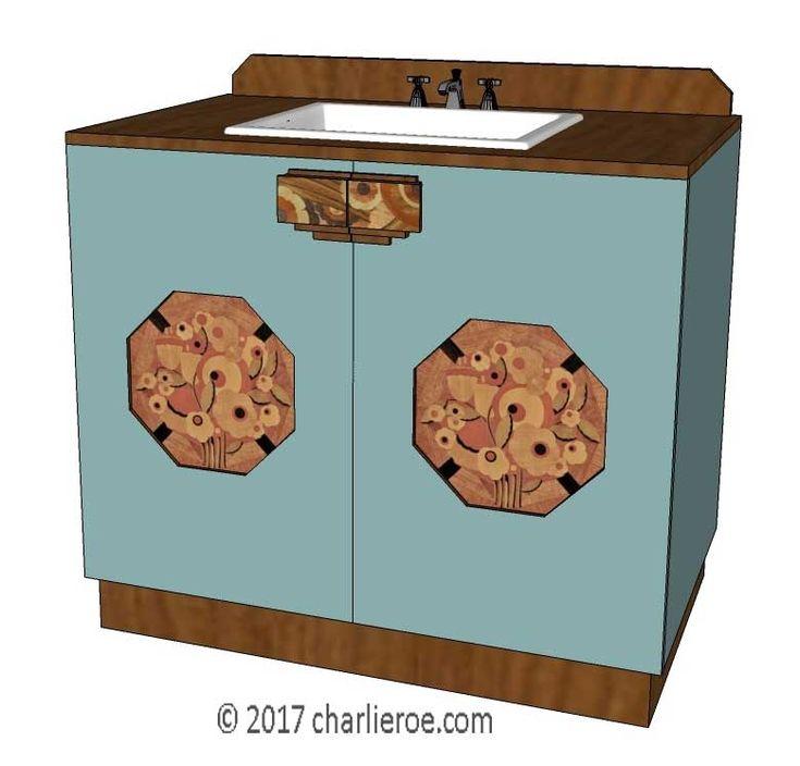 tds the design service new art deco lacquered painted wood 2 door bathroom vanity