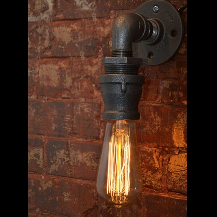64.60$  Watch here - http://alioeb.worldwells.pw/go.php?t=32345439488 - Loft Vintage Nostalgic Industrial Lustre Water Pipe Edison Wall Sconce Lamp Resturant Hotel Bar Stair Home Decor Modern Lighting 64.60$