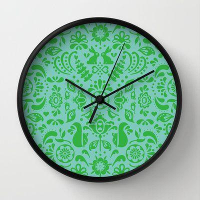 © www.patternpenny.com Tonal folklore Wall Clock