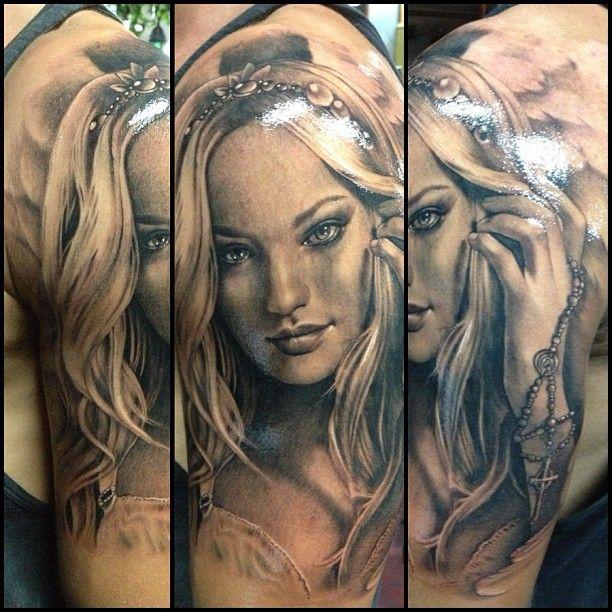 Tattoo Woman Portrait: 1000+ Images About Teneile Napoli Tattoo On Pinterest
