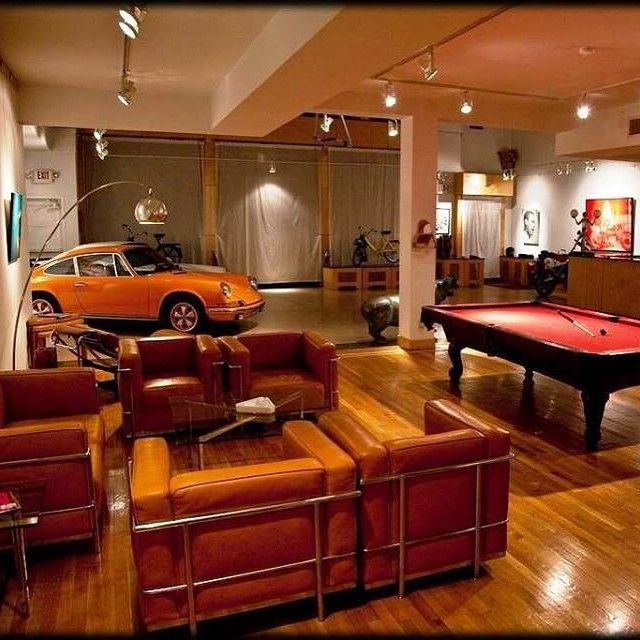 Garage Man Cave With Pool Table : Pin by neto godoy on porsche pinterest caves sliding
