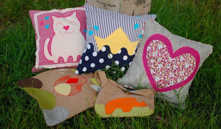 Happy summer cushions !  ~ h a n d m a d e ~  order @ http://buburuze.wordpress.com/2013/06/13/summer-cushions/