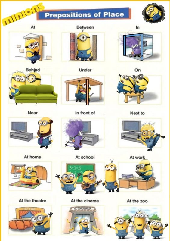 Maths Minion Preposition Poster