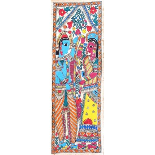 COLORED KRISHNA AND RADHA http://www.indiancraftsmen.com/art-c4ca4238a0b923820dcc509a6f75849b/madhubani/colored-krishna-and-radha-2