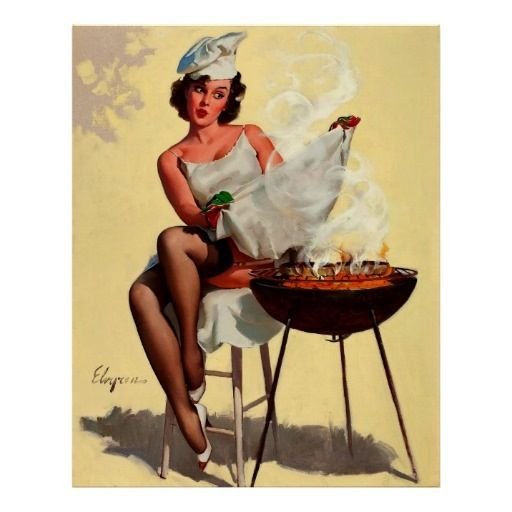 Pin up barbecue