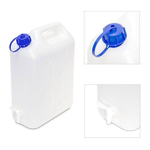 Eda – Jerrican alimentaire à robinet / 20 l: Bidon jerrican pouvant contenir 20 litres de liquide, pratique avec son robinet. En matière…