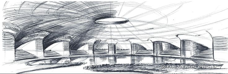 Total Enclosure Systems - Subterranean Cities - Drawing of a subterranean city.