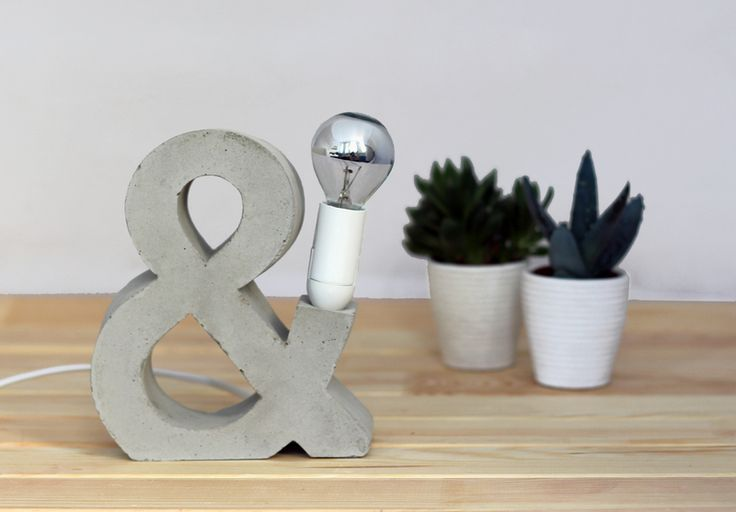 """Lampe """"AMPERSAND"""" aus Beton von kunstlichter auf DaWanda.com"""