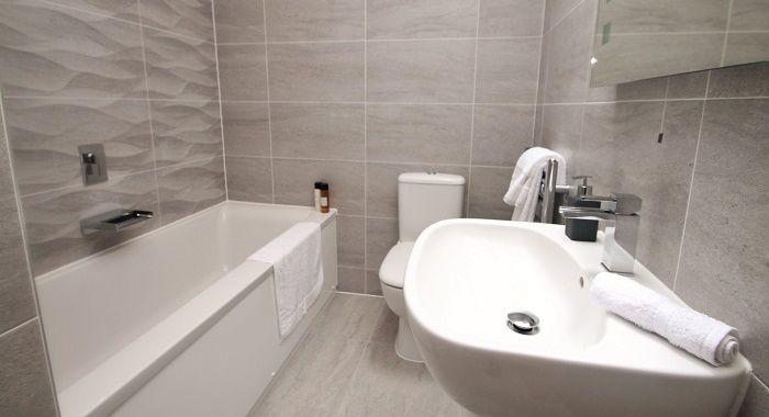 Bathroom tiles chosen for Show Home.