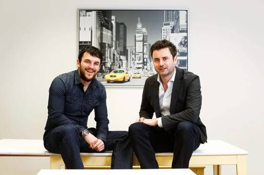 NewsWhip co-founders Andrew Mullaney and Paul Quigley. Photo: Conor McCabe Photography