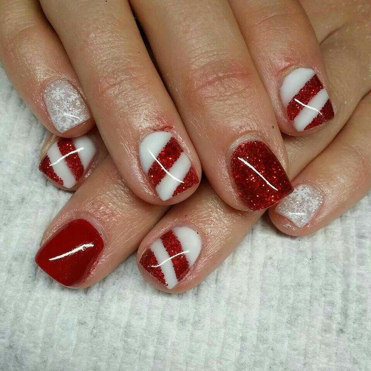 #christmas #nails #nailart #cute
