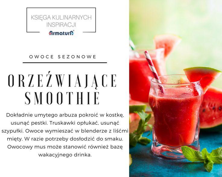 Oto orzeźwiająca propozycja na cieplejsze dni. Pyszna, zdrowa i piękna :) #ArmaturaKraków #kulinarneinspiracje #smoothie