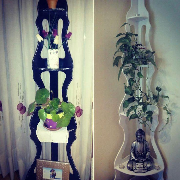Otro cambio para aquel esquinero! Blanco o negro?/Black Or White? #restaurando #decor #diy #creative #maderademindi #muebles #transformando #nuevosproyectos #decoracion #ideas #esquinero #desing #reciclando #homedecor #blackorwhite